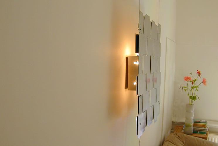 moderne leuchten und designerlampen wandleuchte aus edelstahl. Black Bedroom Furniture Sets. Home Design Ideas